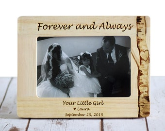 Father of the Bride Gift, Father of the Bride Frame, Thank you Father Wedding gift, Personalized Wedding Frame
