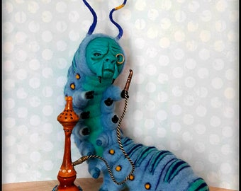 Caterpillar - Absolem- Alice in Wonderland-OOAK - Tim Burton - Lewis Carrol