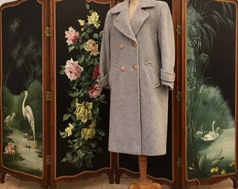 Wool and mohair Weinberg coat