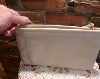 Vintage Clemente Purse, Vintage clutch purse, clutch purse with strap, 1980's purse, beige purse, Morethebuckles