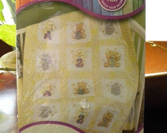 Stamped Quilt Blocks A B C's and 1 2 3's