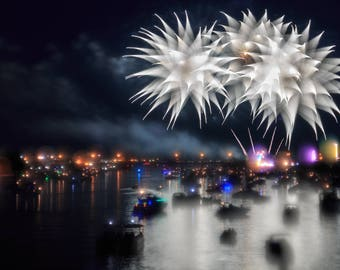 Lustre Print: 2017 Bay City, MI Fireworks Festival 1