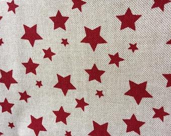 Linen fabric stars