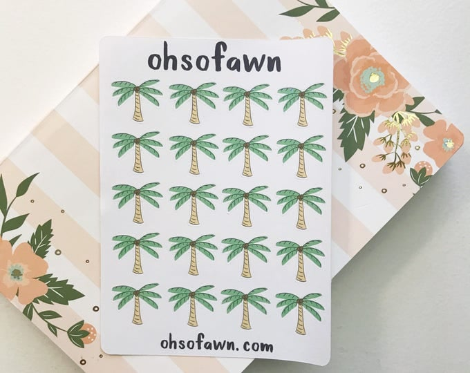 Hand Drawn Palm Tree Stickers
