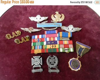Summer Sale Vintage Medal / Ribbon Grouping Vietnamese jump wings