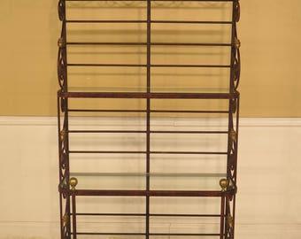 29602EC: Iron & Brass High Quality Bakers Rack