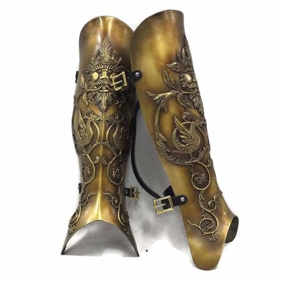 Larp Armor, Medieval, Negroli Greaves, fantasy, larp armour, cosplay armour, warcraft, paladin