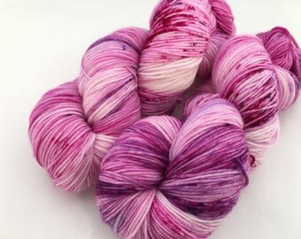 Hand dyed yarn Victoria sock -'Because Pink'