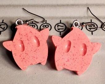 Luma Earrings - Star Earrings - Pink Speckled Earrings - Gamer Earrings - Mario Earrings