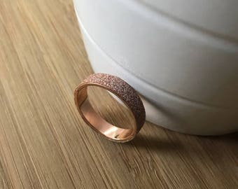 Sparkle Rose Gold Ring (large) Faux Diamonds Ring, Midi Ring, Stacking Rings, Stackable Rings, Gift for her, Gift for Sister, Gift for Mom