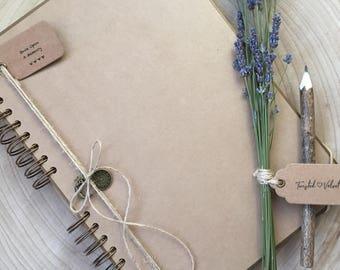 Handmade Personalised Memory Book/ Scrapbook/ Photo Album/ Guestbook A4 Luxury