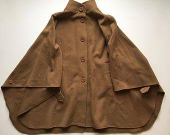 Wool / Cashmere Camel Cape Women's L/XL