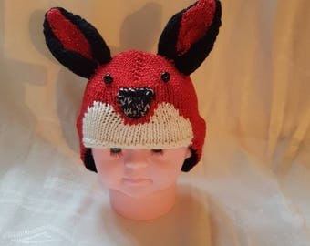 Fully lined sparkly cute fox hat
