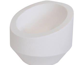 """12 Oz 3"""" Diameter Ceramic Alumina High Back Crucible Dish Cup Melting Casting Refining Gold Silver Copper Scrap Metal Jewelry - CRU-0114"""