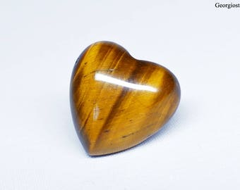 Heart Shaped Tiger's Eye Cabochon 15x15 mm