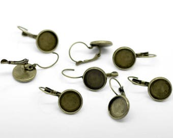 5 pairs of earring (pr 12mm) round tray