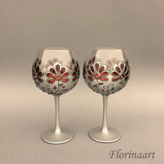 Wine Goblets Gothic Wedding Glasses Gothic Glasseshand