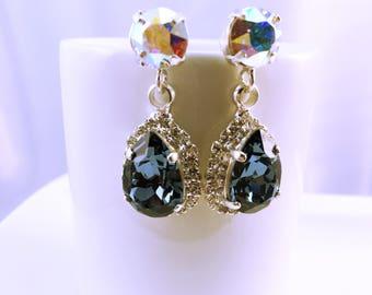 Earrings Swarovski wedding jewelry bridesmaids Swarovski Elements