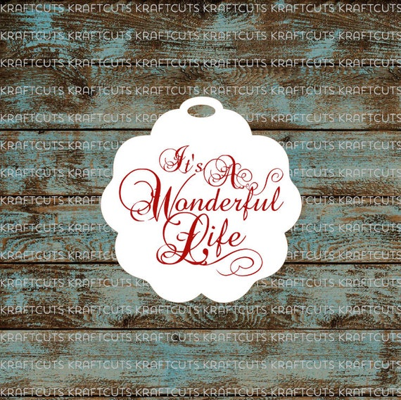 Favor or Gift Tags - It's A Wonderful Life #783 - Quantity: 30 Tags