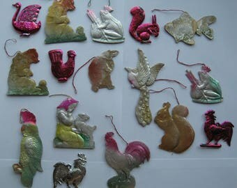 Vintage Soviet New Year's Christmas Tree Ornaments