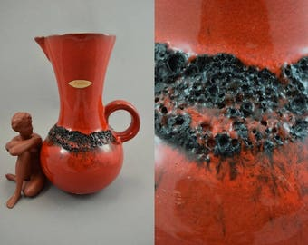 Vintage ceramic vase by Kreutz Keramik / Model 227 | West German Pottery | 60s