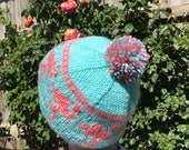 Knitting Pattern: Pink Fl...