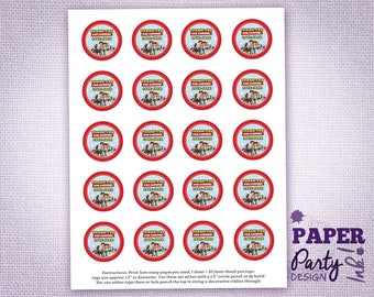 """Toy Story Party Small 1.5"""" Personalized Thank You Tags, Toy Story Thank You Tags, Toy Story Thank You Favor Tags, Toy Story Thank You Tags"""