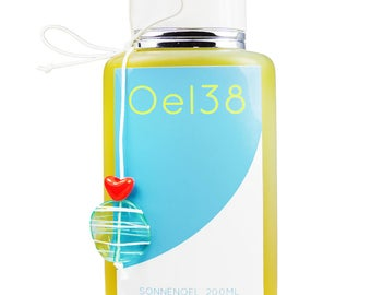 Oel38 premium suntan oil olive oil and Zitrone@Suntan oil @ schnell@vegan Brown