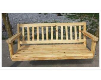 4' Porch Swing Southern Yellow Pine Wood