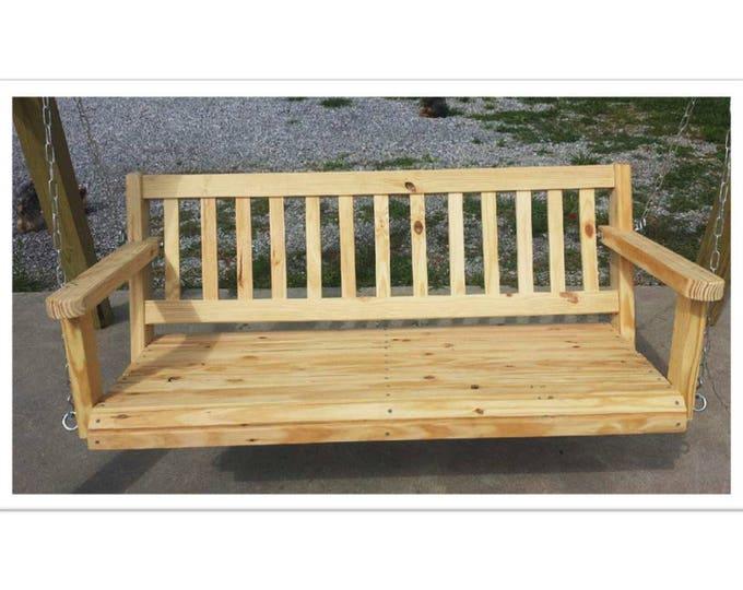 4' Porch Swing Southern Yellow Pine Wood