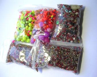Huge Bead Soup Sorting Mix Glass Crystal Seed Beads 5 stuffed bags