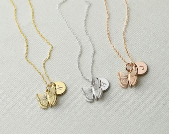 Dainty Butterfly Necklace Gold Butterfly Necklace for Kids Fall Gift Kids Jewelry Inspirational Gift - 3BFN