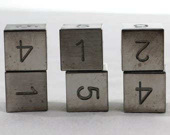 Zucati Dice: Tungsten 6d6 Set Square Corners