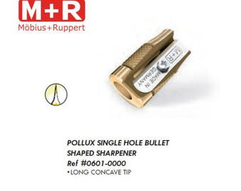 Mobius + Ruppert (M+R) POLLUX 0601 Brass Pencil Sharpener - Finest in the world - MADE in GERMANY