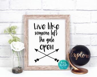 Life Quote Typography Print, Funny Wall Art, Printable Art, Quote Digital Print, Tribal Art Print, Arrow Art Print, Quote Instant Download