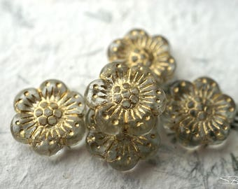last ones..Antique Flowers, Flower Beads, Czech Beads, Beads, N2143