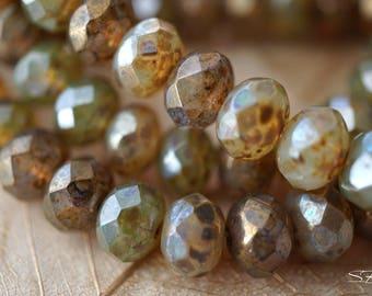Chanpagne Bliss, Rondelle Beads, Czech Beads, Beads, N1934