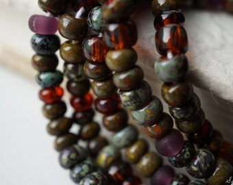 NEW Stock.. Merlot Picasso Mix, Seed Beads, Seed Beads, Beads