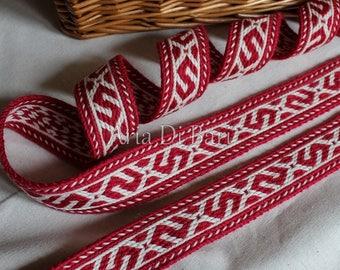 Tablet weaving trim, Kaukola Kekomaki pattern, viking, medieval, reenactment, sca, larp