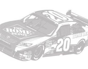 Tony Stewart Nascr No. 20 Racing Car See Through Wall Sticker Decal