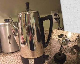 Presto electric coffee percolator-works!
