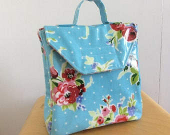 Lunch bag | Lunch tote | Oilcloth lunch bag | Childs lunch bag | Reusable lunch bag |
