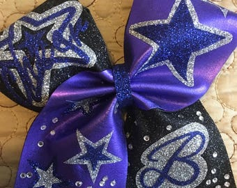 Personalized Cheer Bow Keychains-cheer Bow Keychain- Rhinestones Bow keychains - Glitter cheer bow keychain