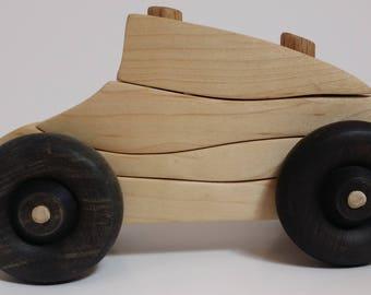 Push puzzle race car