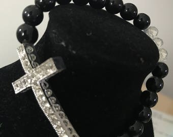 Cross beaded bracelet - available in different colors