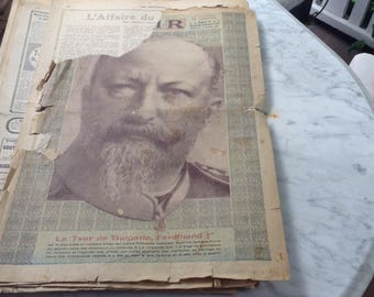 "1912 French ""Le Miroir"" 12 by 17 inches Newsprint for Découpage"