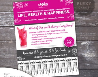 Plexus Flyer With Tear Off Tabs - Pink Design [Digital File]
