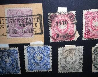 Deutsches Reich Freimarken - Mi. 32, 2 x 33, 2 x 34 a+b?, 2 x 36 a+b   German Empire Postage Stamps - Briefmarken