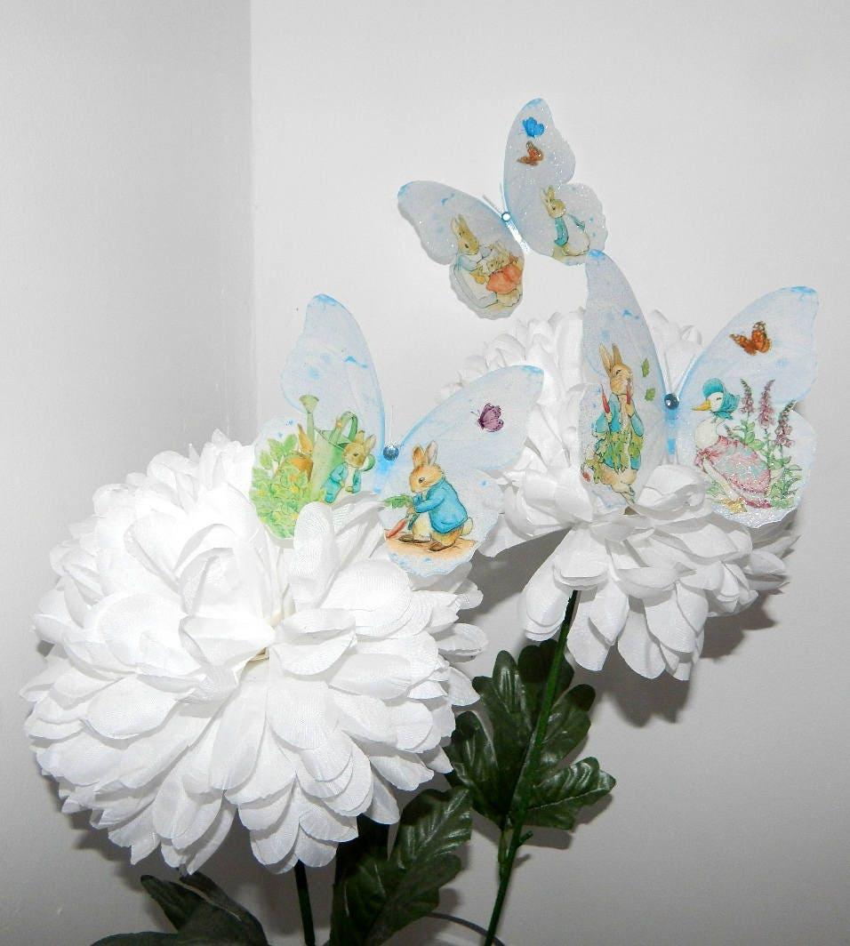 Beatrix Potter Peter Rabbit 3D Wall Sticker Butterflies Bedroom ...