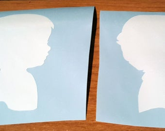 Boy or Girl Silhouette Vinyl Decals